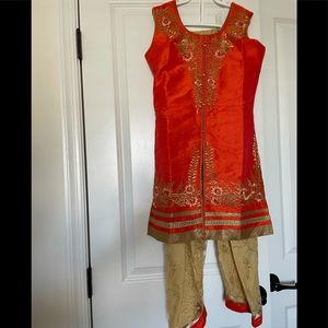 Indian salwar suit for girls age 7-9